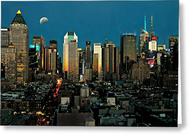 Midtown West Greeting Cards - Take Me to Manhattan  Greeting Card by Diana Angstadt