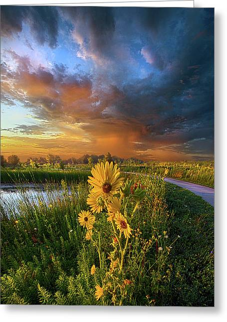 Take My Hand So I Might Reach You Greeting Card by Phil Koch