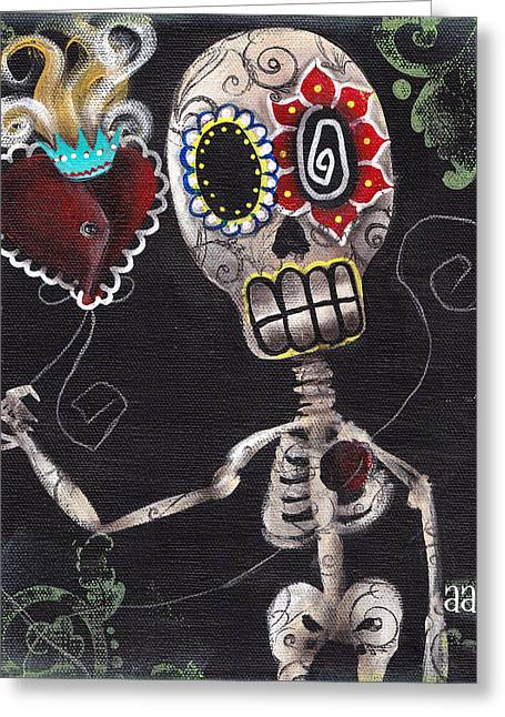 Mexican Flowers Greeting Cards - Take my Heart Greeting Card by  Abril Andrade Griffith