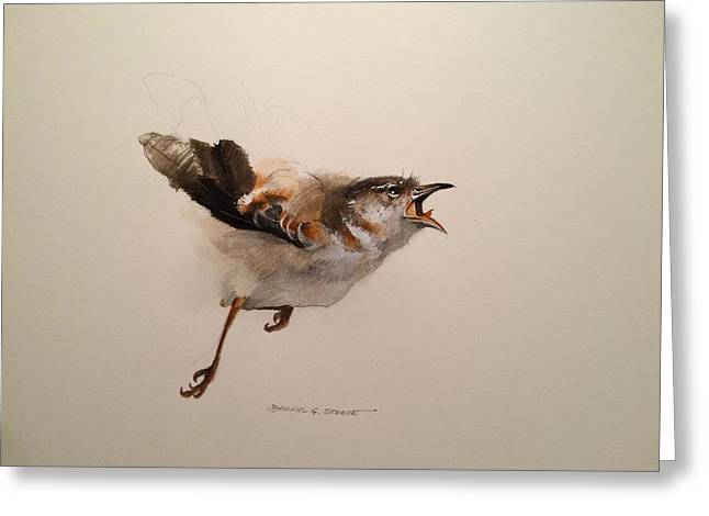 White Paintings Greeting Cards - Take Off Greeting Card by Darryl Steele
