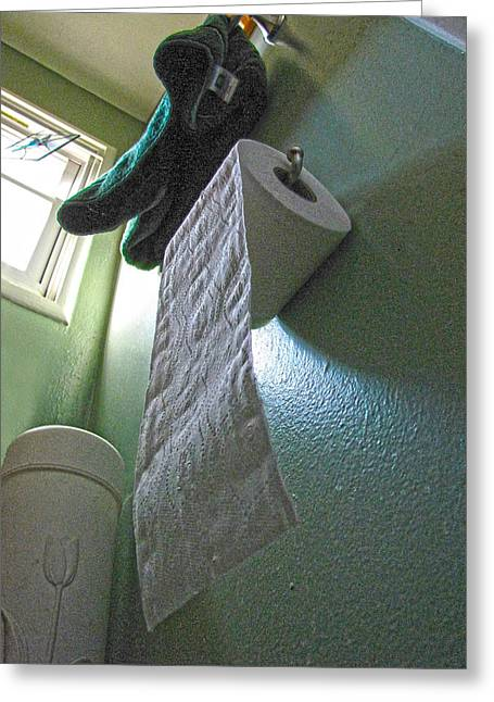 Toilet Roll Holder Greeting Cards - Taken for Granted Greeting Card by Helaine Cummins