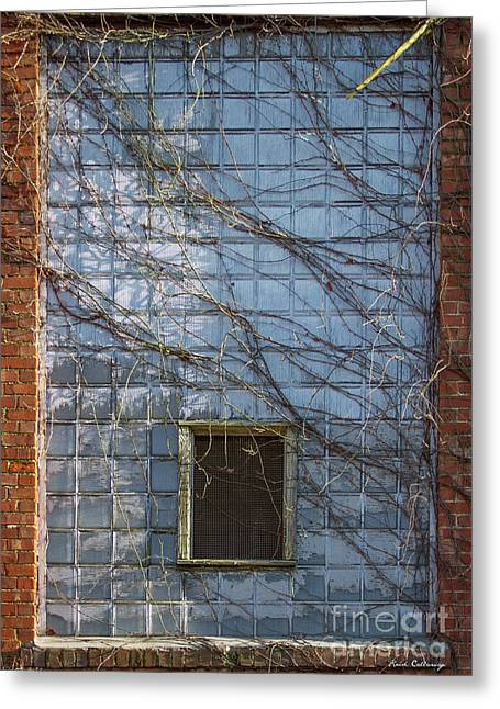 Glass Wall Greeting Cards - Taken Mary Leila Cotton Mill 1899 Greeting Card by Reid Callaway