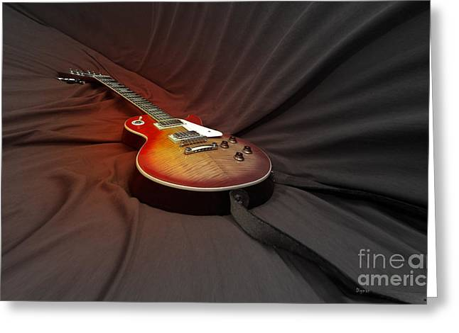 Guitar Strings Greeting Cards - Taking a Break from my Hands Greeting Card by Steven  Digman