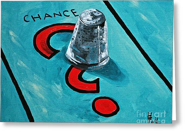 Taking A Chance Greeting Card by Herschel Fall