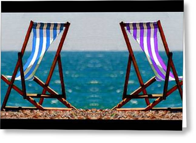 Beach Photos Greeting Cards - Taking a Dip Greeting Card by Bruce Nutting