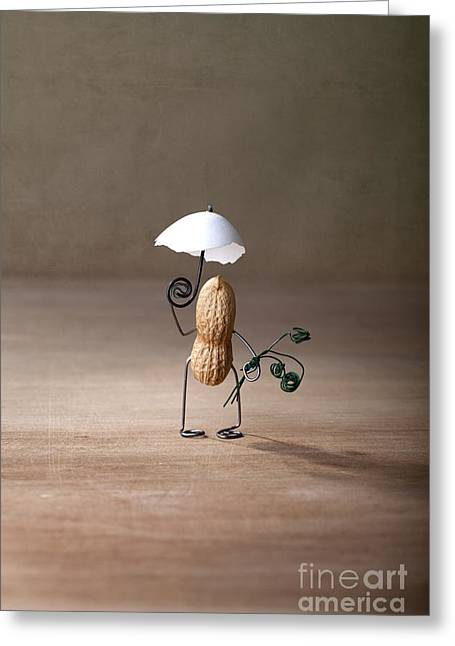 Umbrella Greeting Cards - Taking a Walk 01 Greeting Card by Nailia Schwarz