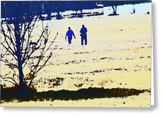 Aimless Greeting Cards - Taking a Walk Greeting Card by Lenore Senior