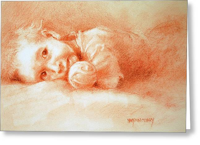 Boy Pastels Greeting Cards - Taking Five Greeting Card by MaryAnn Cleary