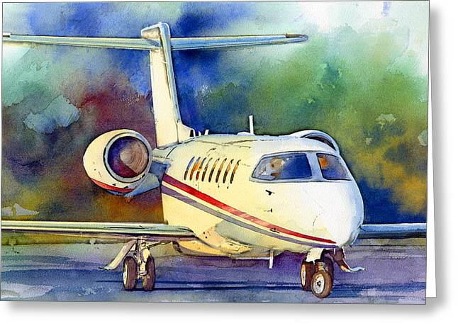 Jet Paintings Greeting Cards - Taking Flight Greeting Card by Andrew King