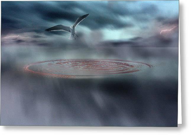 Photography Lightning Digital Art Greeting Cards - Taking Flight Greeting Card by Gray  Artus