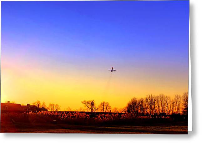 Spectacular Greeting Cards - Taking Off Greeting Card by Olivier Le Queinec
