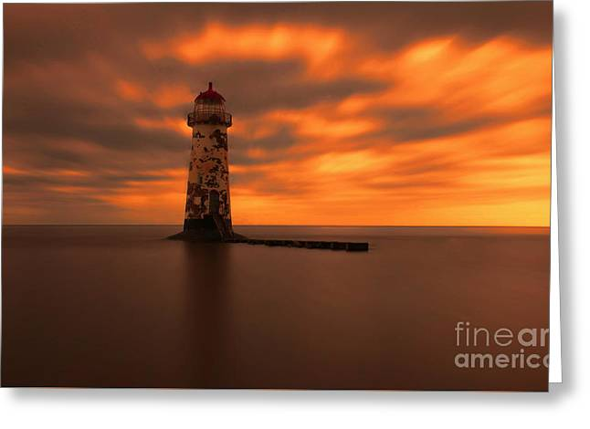 Chris Evans Greeting Cards - Talacre Lighthouse Greeting Card by Chris Evans