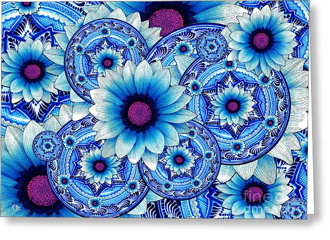 Daisies Mixed Media Greeting Cards - Talavera Alejandra Greeting Card by Christopher Beikmann