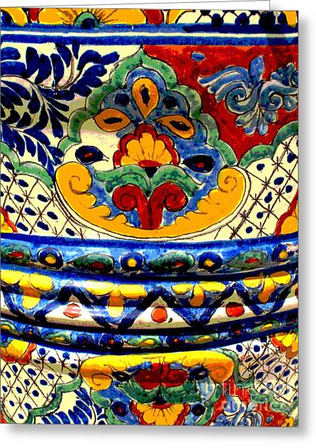 Best Sellers -  - Gypsy Greeting Cards - Talavera by Darian Day Greeting Card by Olden Mexico