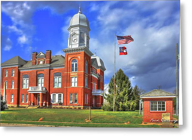 County Seat Greeting Cards - Taliaferro County Court House Greeting Card by Reid Callaway