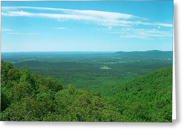 Arkansas Greeting Cards - Talimena Drive Panorama Greeting Card by Garrett Griffin