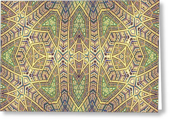 Abstract Shapes Greeting Cards - Talisman Greeting Card by John Edwards