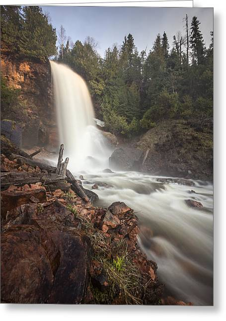 Geology Photographs Greeting Cards - Talking Falls Greeting Card by Jakub Sisak