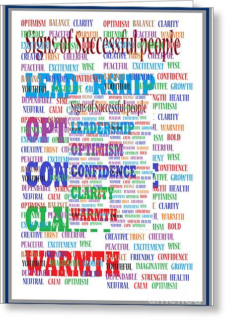 Talking Mixed Media Greeting Cards - Talking Point Art Leadership Management Poster curocity style presentation artwork by NavinJoshi buy Greeting Card by Navin Joshi