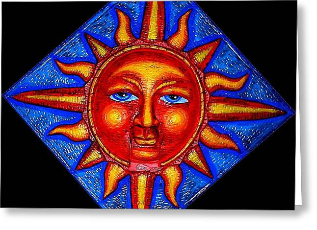 Sunset Framed Prints Greeting Cards - Talking Sun Greeting Card by Genevieve Esson