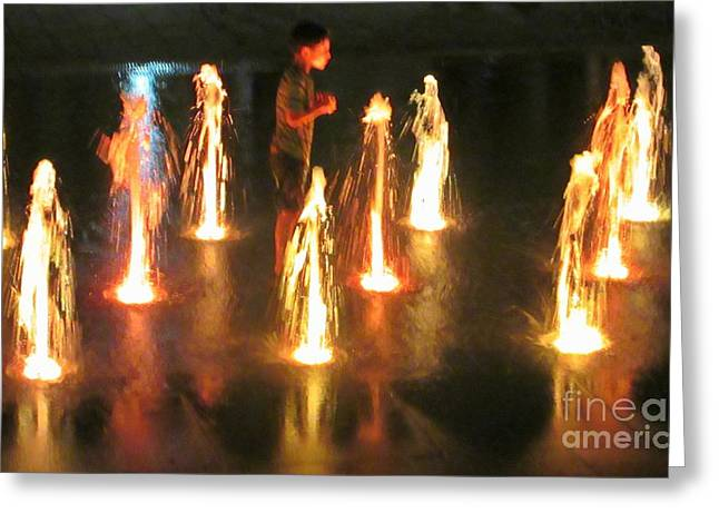 Reflection In Water Greeting Cards - Talking to the Water Spirits Greeting Card by Crystal Loppie