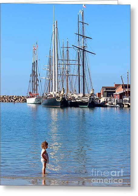 Tall Ships Greeting Cards - Tall Ship Festival Greeting Card by Cheryl Del Toro