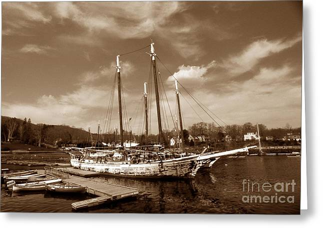 Surf Photos Art Greeting Cards - Tall Ship Grace Bailey Greeting Card by Skip Willits