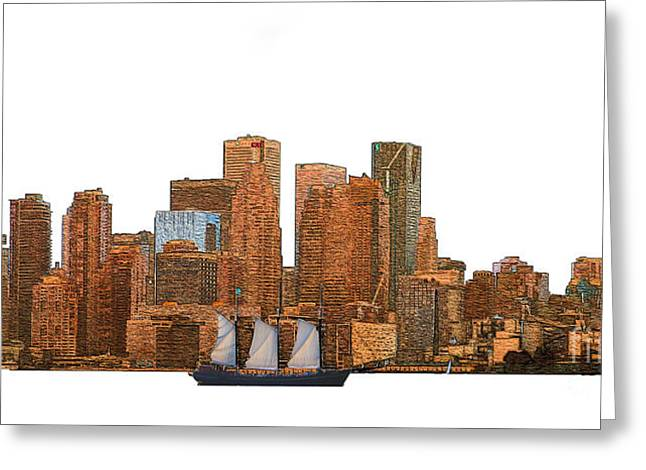 Tall Ships Greeting Cards - Tall Ship in Toronto Harbour Greeting Card by Nina Silver