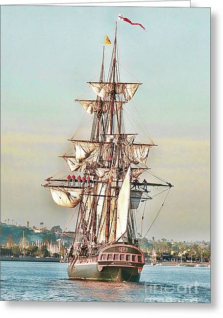 Tall Ships Greeting Cards - Tall Ship Greeting Card by Philippe Gadeyne