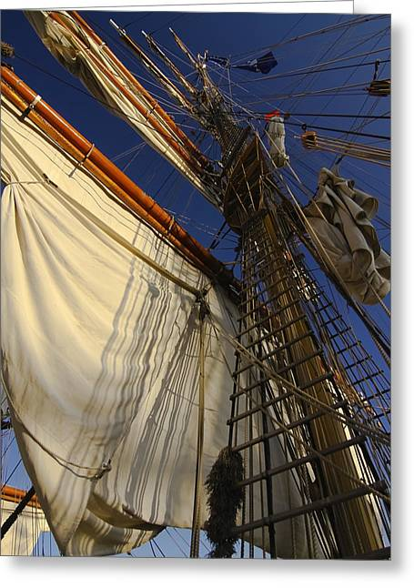 Tall Ships Greeting Cards - Tall Ship sails Greeting Card by Sven Brogren