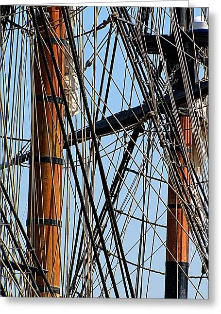 Wooden Ship Greeting Cards - Tall Ship Series 11 Greeting Card by Scott Hovind