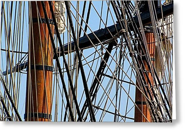Tall Ship Series 11 Greeting Card by Scott Hovind
