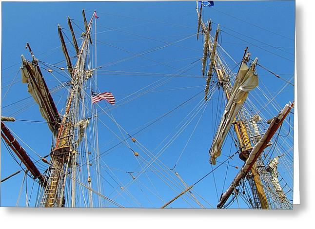 Wooden Ship Greeting Cards - Tall Ship Series 16 Greeting Card by Scott Hovind