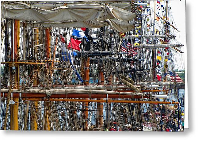 Wooden Ship Photographs Greeting Cards - Tall Ship Series 4 Greeting Card by Scott Hovind