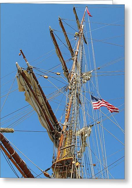 Wooden Ship Photographs Greeting Cards - Tall Ship Series 8 Greeting Card by Scott Hovind