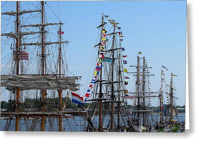 Tall Ship Series 9 Greeting Card by Scott Hovind