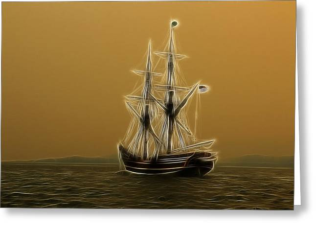 Sailing Ship Greeting Cards - Tall Ship Greeting Card by Steve McKinzie
