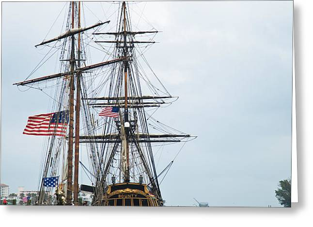 Tall Ships HMS Bounty and Privateer Lynx at Peanut Island Florida Greeting Card by Michelle Wiarda
