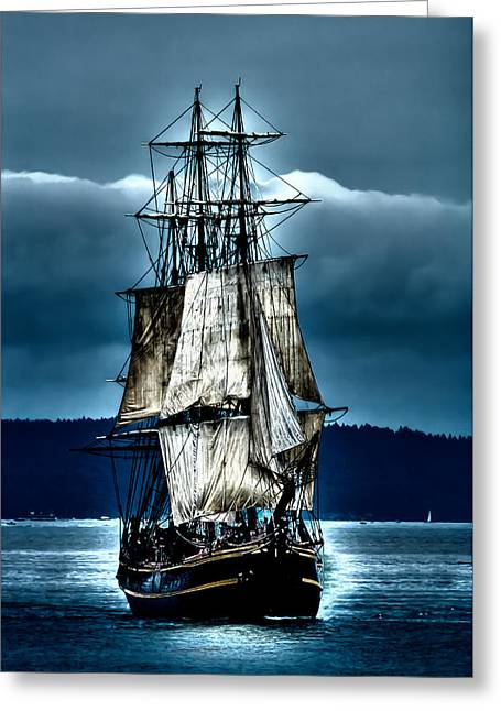 Tall Ships Greeting Cards - Tall Ships - HMS Bounty Greeting Card by David Patterson