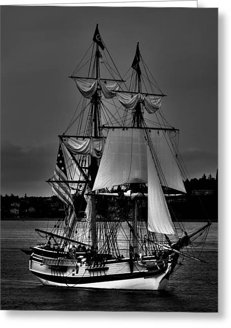 Pirate Ship Greeting Cards - Tall Ships in Tacoma 2 Greeting Card by David Patterson