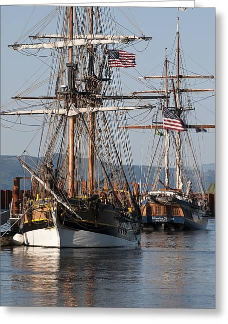 Tall Ships Greeting Cards - Tall Ships Greeting Card by Robert Potts