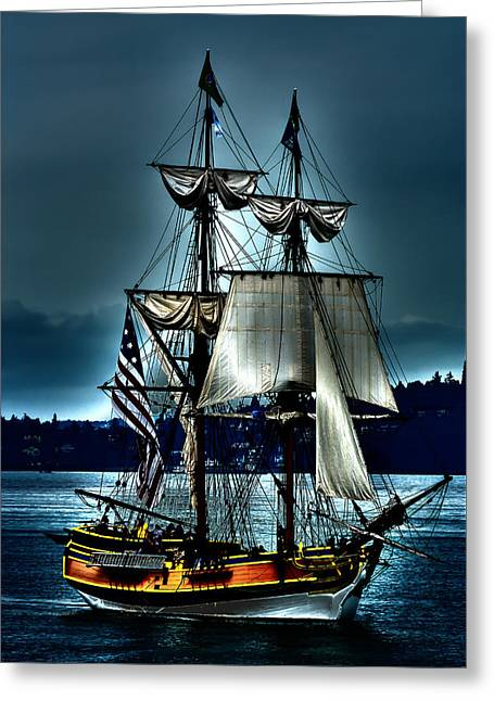 Pirate Ship Digital Greeting Cards - Tall Ships - Tacoma Washington Greeting Card by David Patterson