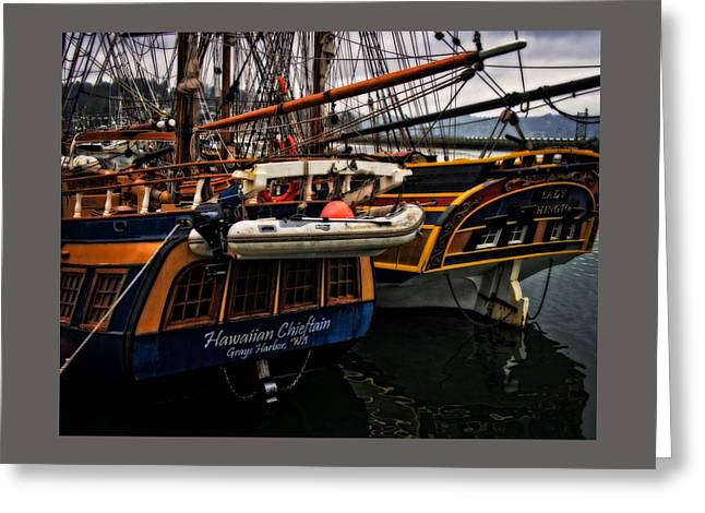 Lady Washington Greeting Cards - Tall Ships Greeting Card by Thom Zehrfeld
