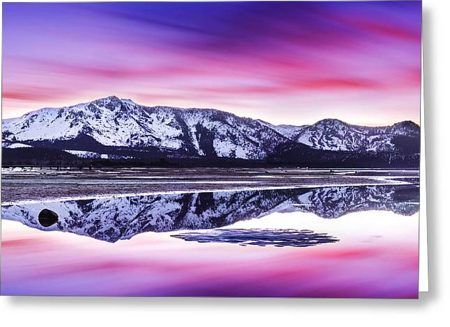 Tallac Reflections, Lake Tahoe Greeting Card by Brad Scott