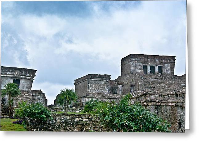 Solidity Greeting Cards - Talum Ruins 5 Greeting Card by Douglas Barnett
