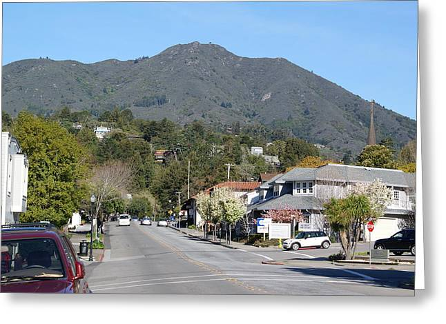 Tamalpais From Mill Valley Greeting Card by Ben Upham