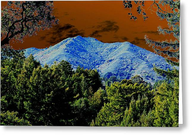 Marin County Digital Art Greeting Cards - Tamalpais on a Thursday Greeting Card by Ben Upham