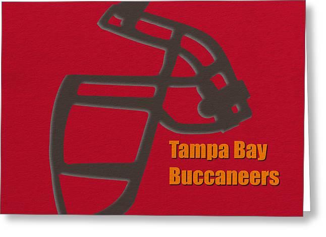 Buccaneer Greeting Cards - Tampa Bay Buccaneers Retro Greeting Card by Joe Hamilton
