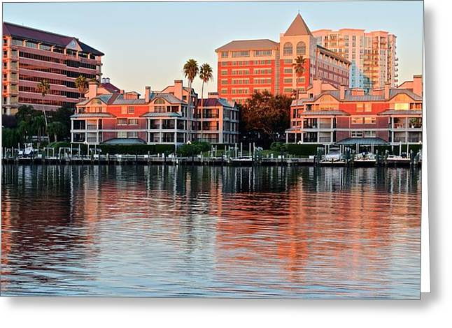 Buccaneer Greeting Cards - Tampa Harbor Island Greeting Card by Frozen in Time Fine Art Photography
