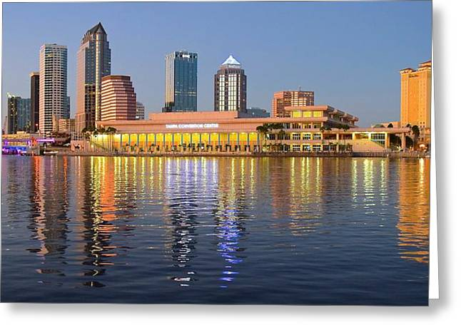 Convention Greeting Cards - Tampa Shimmers Greeting Card by Frozen in Time Fine Art Photography
